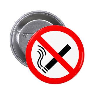 NO Smoking Sign - UK Signage 6 Cm Round Badge
