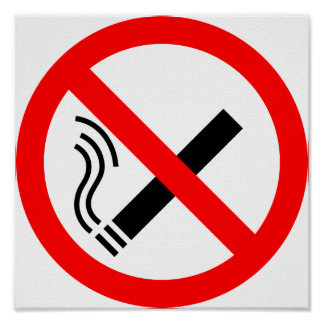 NO Smoking Sign - UK Signage Poster