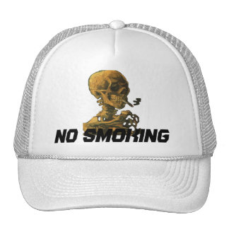 No Smoking Skull with Cigarette Cap