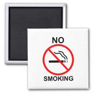 No Smoking Square Magnet