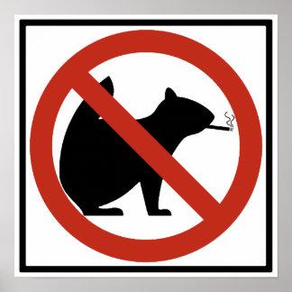 No Smoking Squirrels Allowed Highway Sign