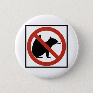No Smoking Squirrels Allowed Highway Sign 6 Cm Round Badge