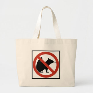 No Smoking Squirrels Allowed Highway Sign Large Tote Bag