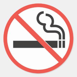 No smoking round stickers