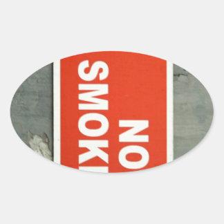 No smoking oval stickers
