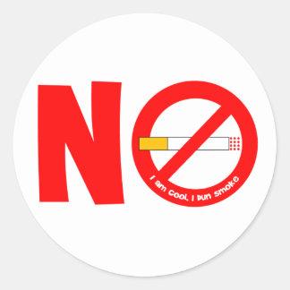 No Smoking Round Sticker