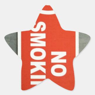 No smoking star sticker