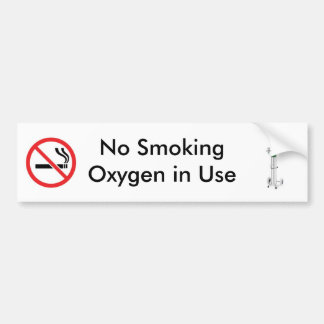 No Smoking Sticker Bumper Sticker