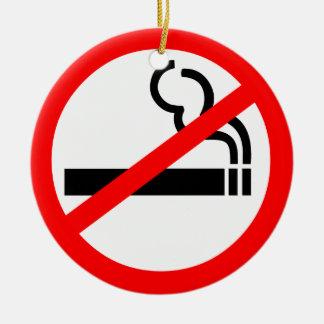 No Smoking Symbol Christmas Ornament