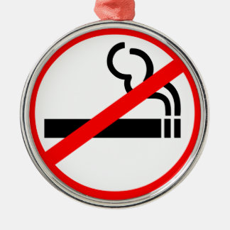 No Smoking Symbol Christmas Ornament