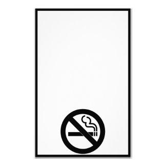 No Smoking Symbol Custom Stationery