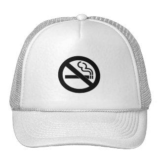 No Smoking Symbol Hats