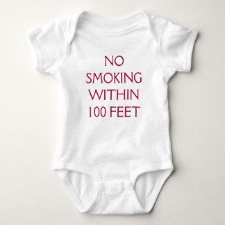 NO SMOKING WITHIN 100 FEET BABY BODYSUIT