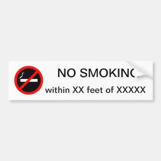 NO SMOKING within custom Bumper Sticker