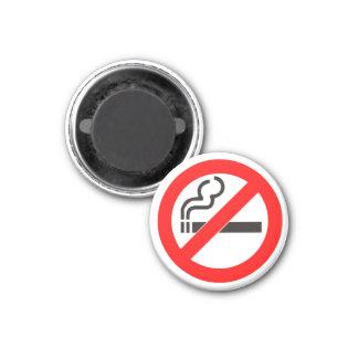 No Smoking Zone 3 Cm Round Magnet