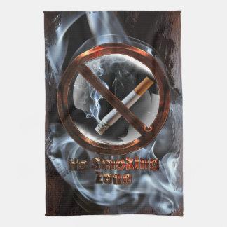No Smoking Zone Tea Towel