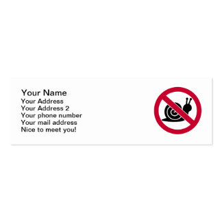 No snails pack of skinny business cards