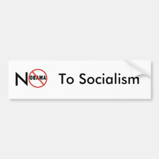 No Socialism Bumper Sticker