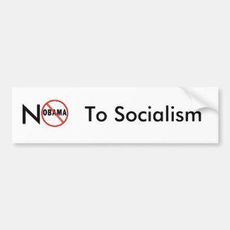 No Socialism Car Bumper Sticker