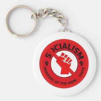 No Socialism Keychain