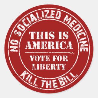 No Socialized Medicine Round Sticker