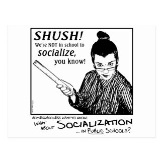 No Socializing! Postcard