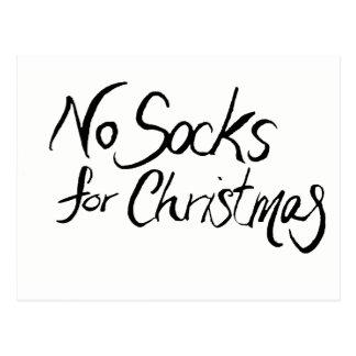 No Socks for Christmas Postcard
