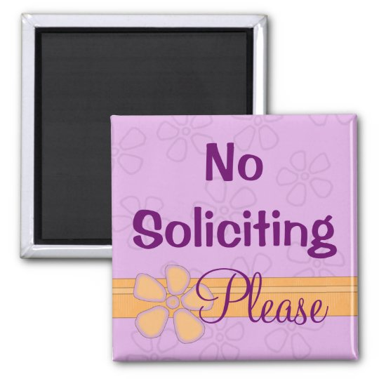 No soliciting sign front door magnet