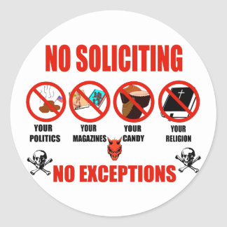 No Soliciting Stickers