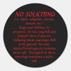 NO SOLICITING sticker (Black)