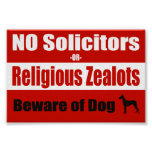 NO Solicitors Door/Window Poster