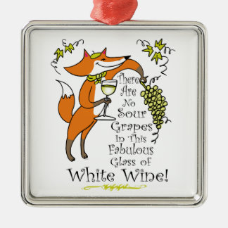 No Sour Grapes in this Fabulous White Wine Christmas Ornament