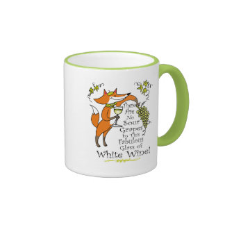 No Sour Grapes in this Fabulous White Wine Mugs