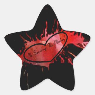 No Spanking The Monkey Star Sticker