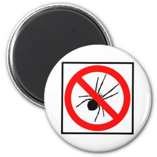No Spiders Highway Sign 6 Cm Round Magnet