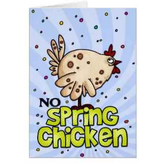 no spring chicken greeting card