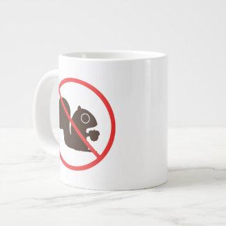No Squirrels Jumbo Mug