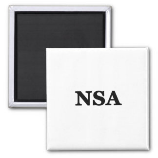 No Srings Attached Square Magnet