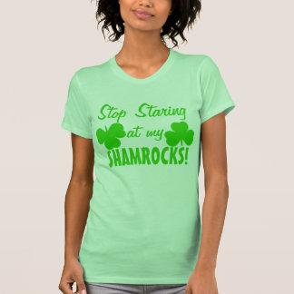 No Staring at my Shamrocks T-Shirt