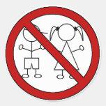 No Stick Figure Kids Round Sticker