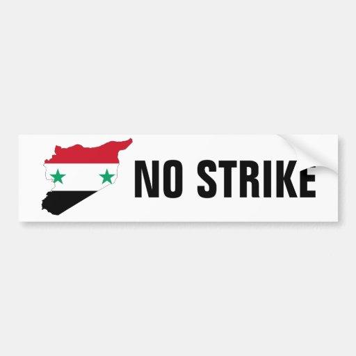 NO STRIKE ON SYRIA BUMPER STICKER