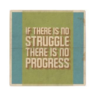 No Struggle No Progress Motivational Wooden Coaste Maple Wood Coaster