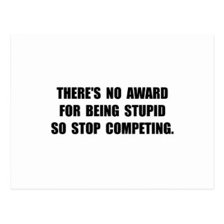 No Stupid Award Postcard
