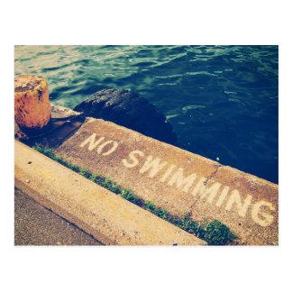 No Swimming Postcard