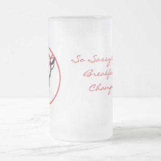 No Swine Allowed Frosted Glass Mug