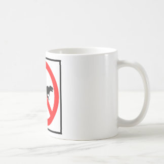 No T-Rexes Highway Sign Dinosaur Basic White Mug