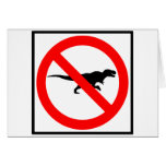 No T-Rexes Highway Sign Dinosaur Greeting Card