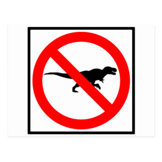 No T-Rexes Highway Sign Dinosaur Postcard