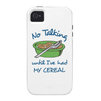 NO TALKING UNTIL CEREAL iPhone 4/4S CASE