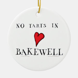 no tarts in bakewell, tony fernandes round ceramic decoration